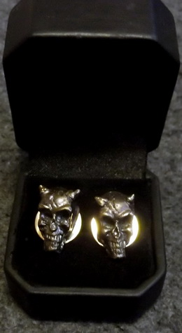 Demon Skull Cufflinks
