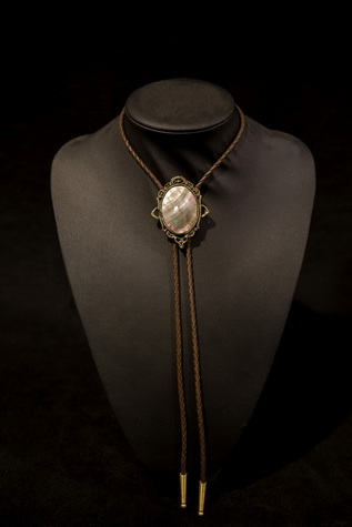 Magic Mirror Bolo with black mother of pearl